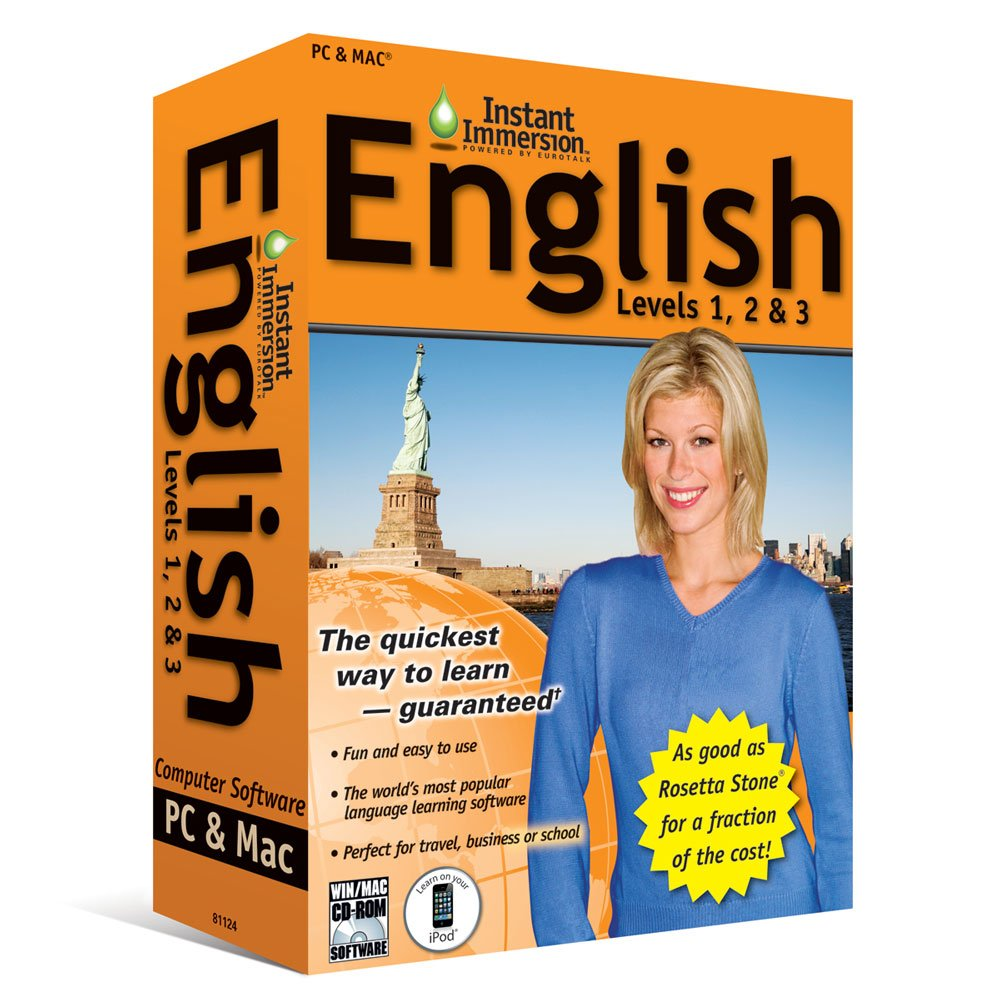 Amazon.com: (2011 Version) Instant Immersion English Levels 1, 2 & 3:  Software