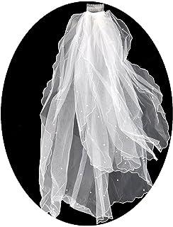 wei/ß ROSENICE Braut Hochzeit Schleier Mantilla mit Kamm Stickerei Spitze Kante 260CM