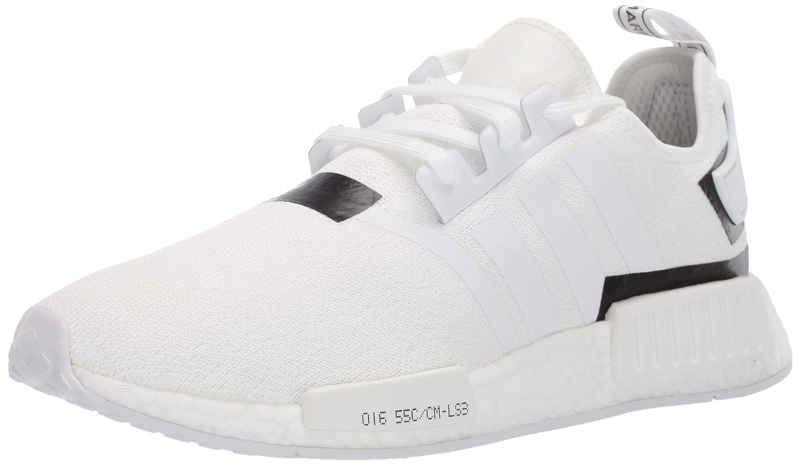 adidas Originals Men's NMD_R1 Running Shoe White/Black, 4 M US