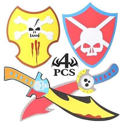 rainbow yuango Skull Designs 4PCS 15