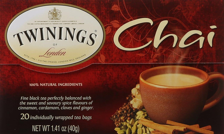Twinings of London Chai Tea Bags, 20 Count