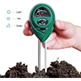Hip2cart 3-in-1 Soil PH/Moisture Meter, with Light, PH & Acidity Meter for Gardening and Farming, Green