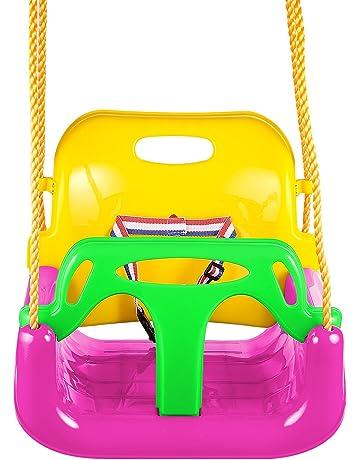 0363d15f8ac6 aceshin Columpio Infantil Plástico para Niños Juego de Columpios 3 en 1 de  Jardín para Bebé