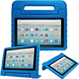 """Fintie Case for All-New Amazon Fire HD 10 Tablet (7th Gen, 2017 Release) - Kiddie Series Shock Proof Light Weight Convertible Handle Stand Kids Friendly Cover for Fire HD 10.1"""" Tablet, Blue"""
