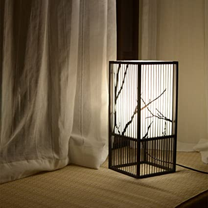 Lámpara de Mesa rústica Tejida rústica lámpara de Mesa ...