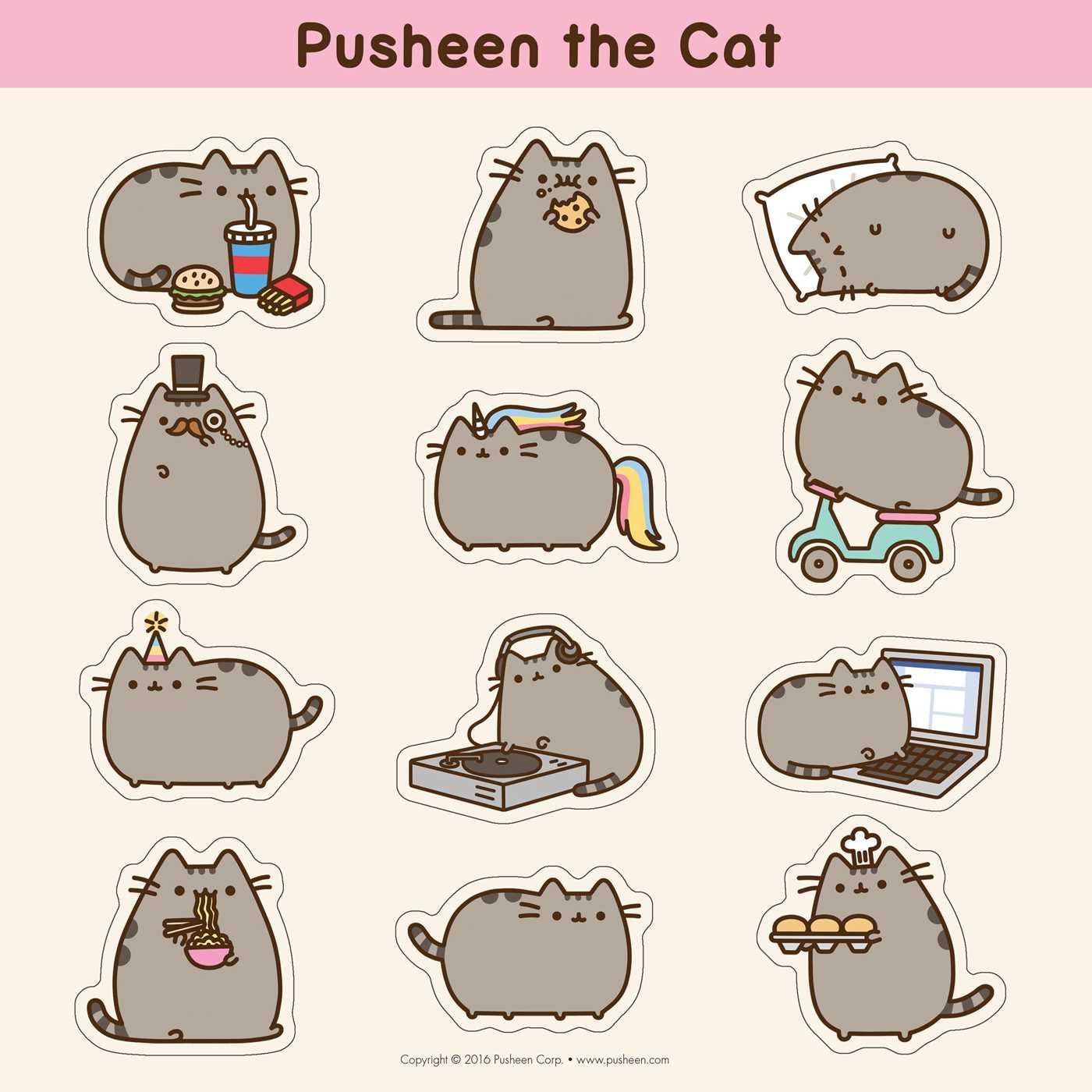 Charming Pusheen The Cat 2017 Wall Calendar: Claire Belton: 0050837355569:  Amazon.com: Books