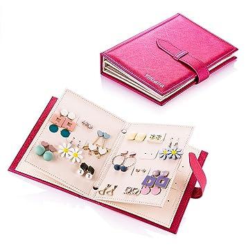 Amazon.com: Organizador de joyas de cuero sintético ...
