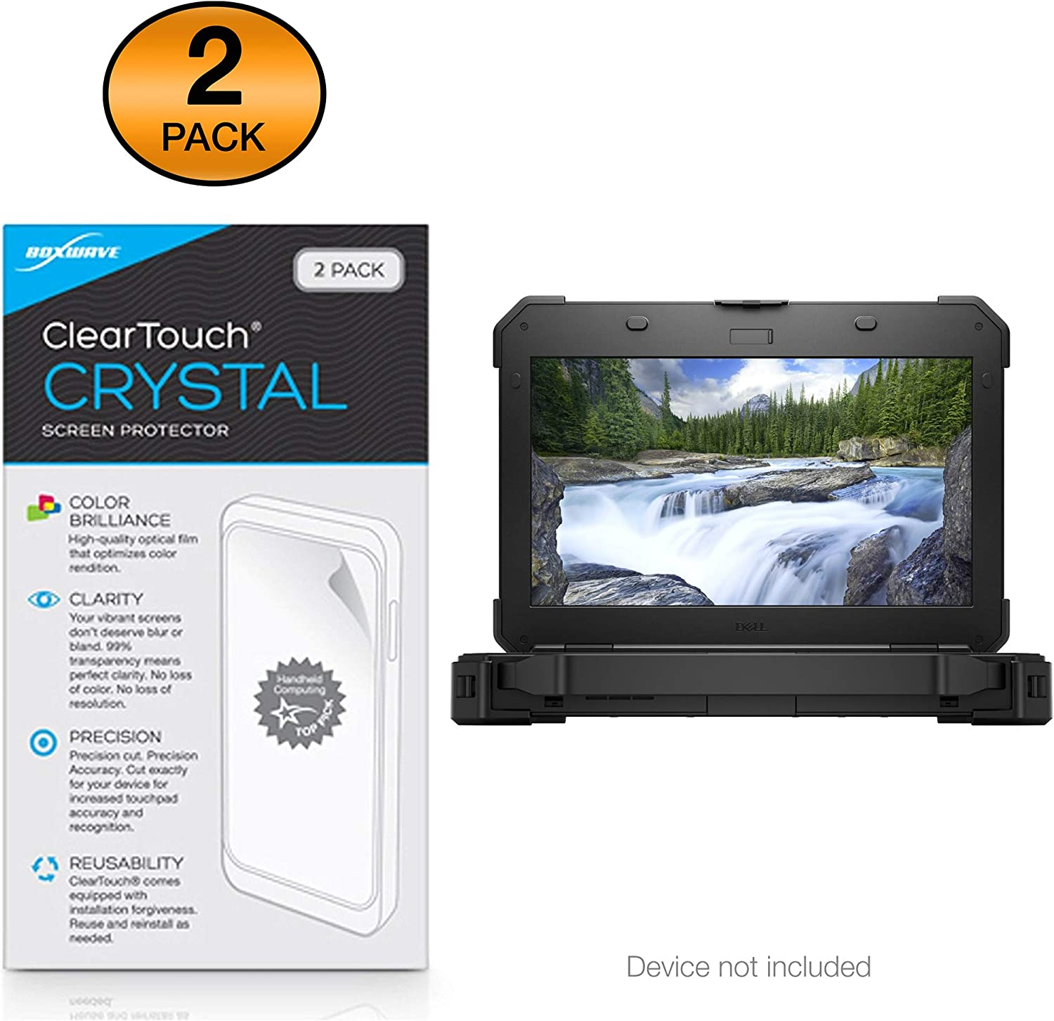 Dell Latitude 5420 Rugged Screen Protector ClearTouch Crystal HD Film Skin BoxWave Shields from Scratches for Dell Latitude 5420 Rugged 2-Pack