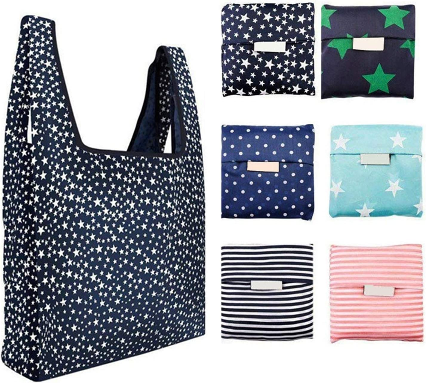14 COLORS ECO FRIENDLY REUSABLE FOLDING SHOPPING GROCERY TOTE BAG NEW