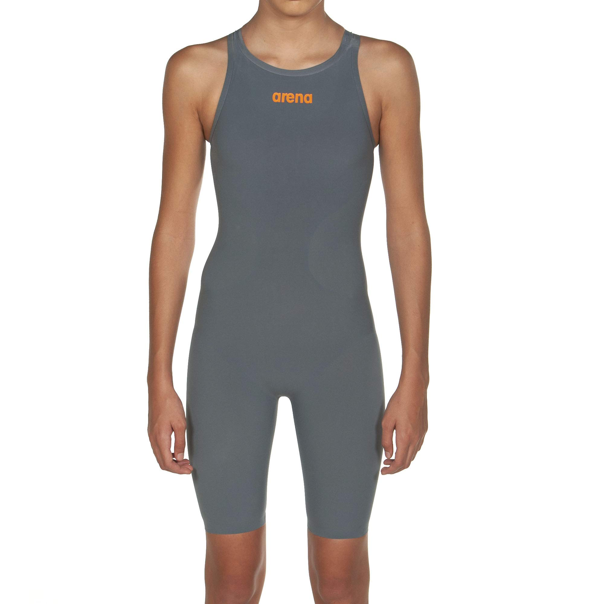 Arena Powerskin R-Evo One - Open Back, Grey/Bright Orange, 24