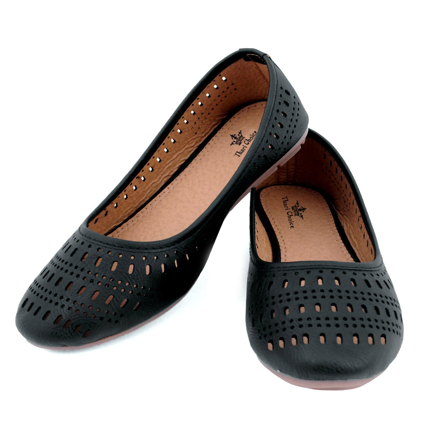 9b60939995ad Thari Choice Women s Faux Leather Ballerinas  Buy Online at Low Prices in  India - Amazon.in