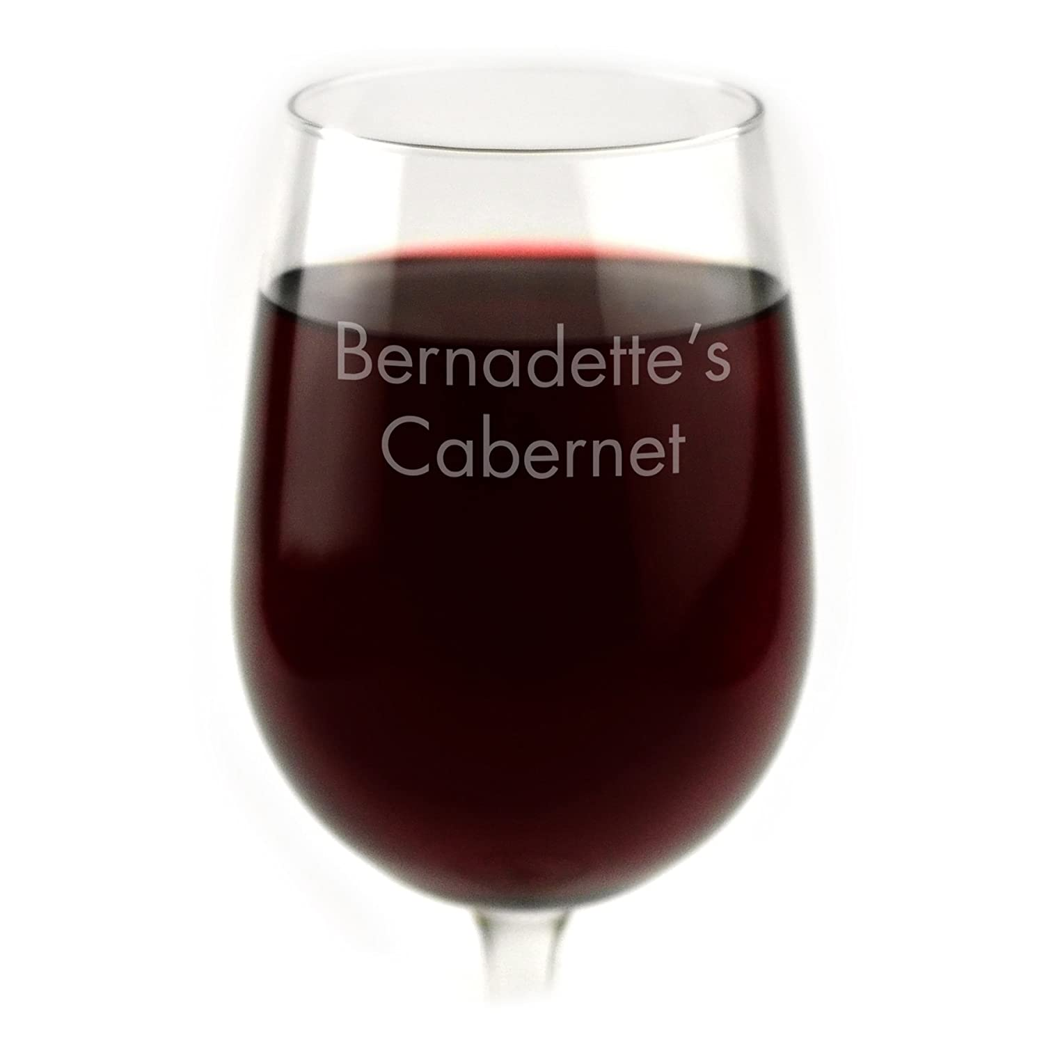 9b8c6bf55c9 Personalized Wine Glass Engraved with Your Custom Text