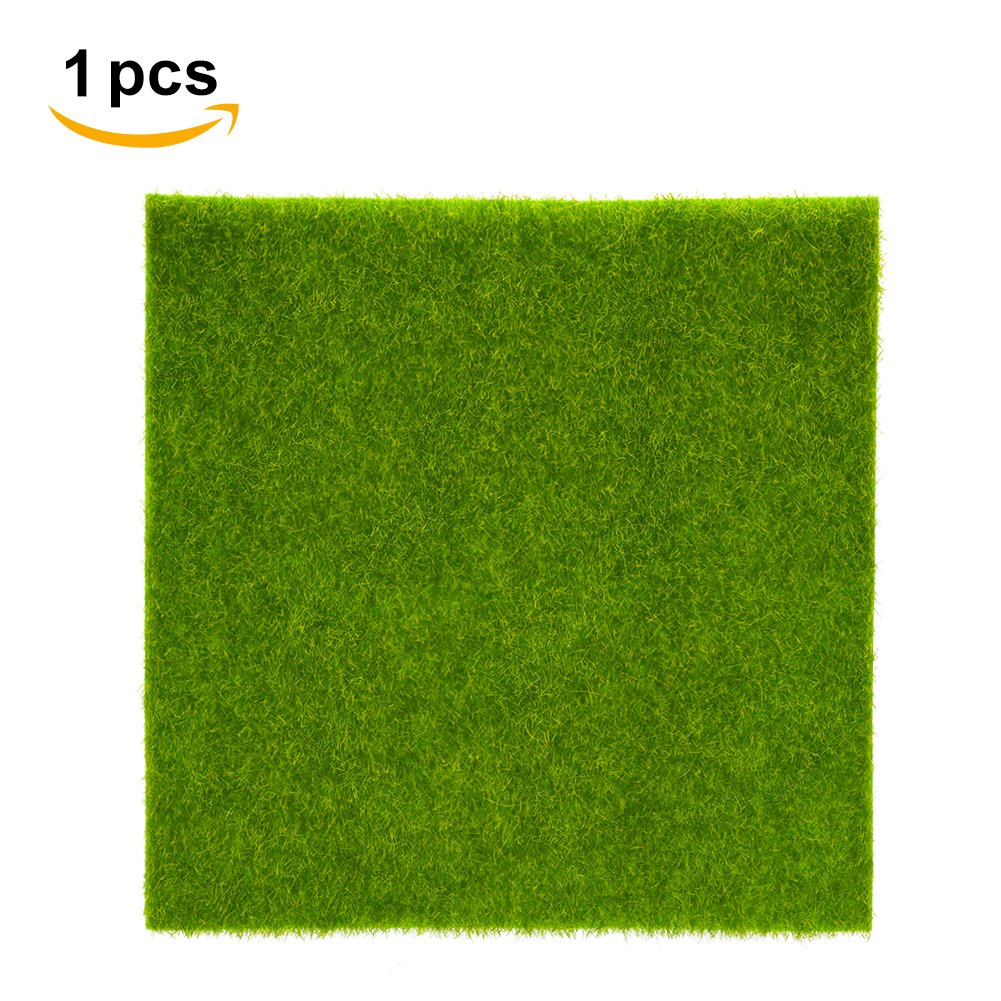 Prato Sintetico Tappeto In Erba Sintetica Artificiale Micro Paesaggio Decorazione Della Casa Ornamento (2Pz 30*30cm) Yosoo