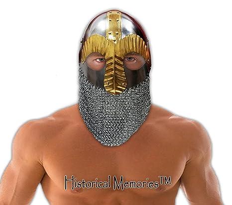 Amazon.com: itdc Totalmente Wearable M – Casco de vikingo ...