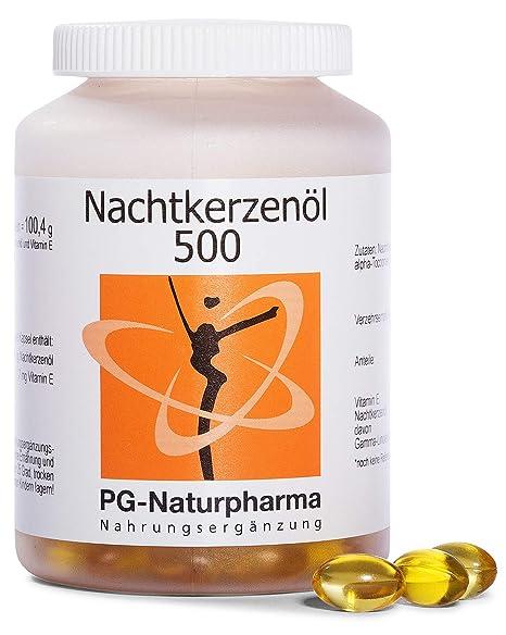 Aceite onagra perlas - 150 cápsulas con 500mg de aceite de onagra y con vitamina E (prensado en frío) - ácidos grasos omega-6 y ácido gamma-linolénico