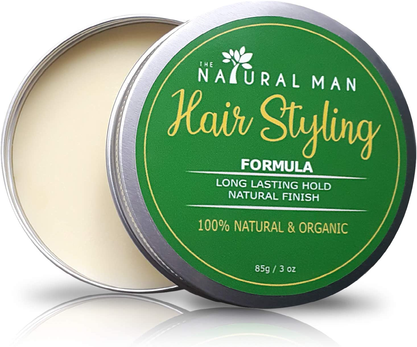 Hair Wax For Men 100 Natural Mens Hair Pomade Medium Hold For Short And Long Hair Handcrafted And Organic By The Natural Man 85g 3oz Amazon Co Uk Beauty