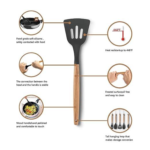 Juego de utensilios de cocina de 11 piezas, utensilios de cocina de ...