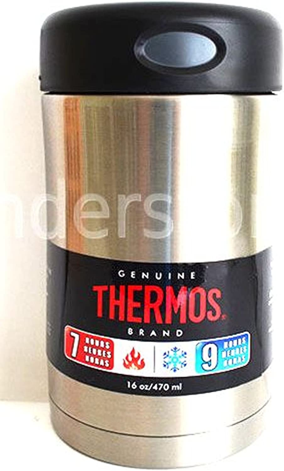 Thermos 16-Ounce Stainless Steel Food Container (Discontinued by Manufacturer)