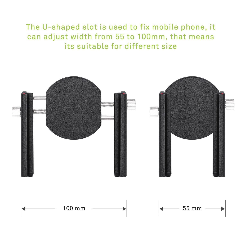 Adjustable 360 Rotate for iPhone 6s//6plus Samsung Galaxy or Any Smartphone /& GPS Universal Handlebar Cradle Clamp Black 7//7plus Vtop Online Shop VTUS005 V.TOP Bike Phone Mount Motorcycle Holder