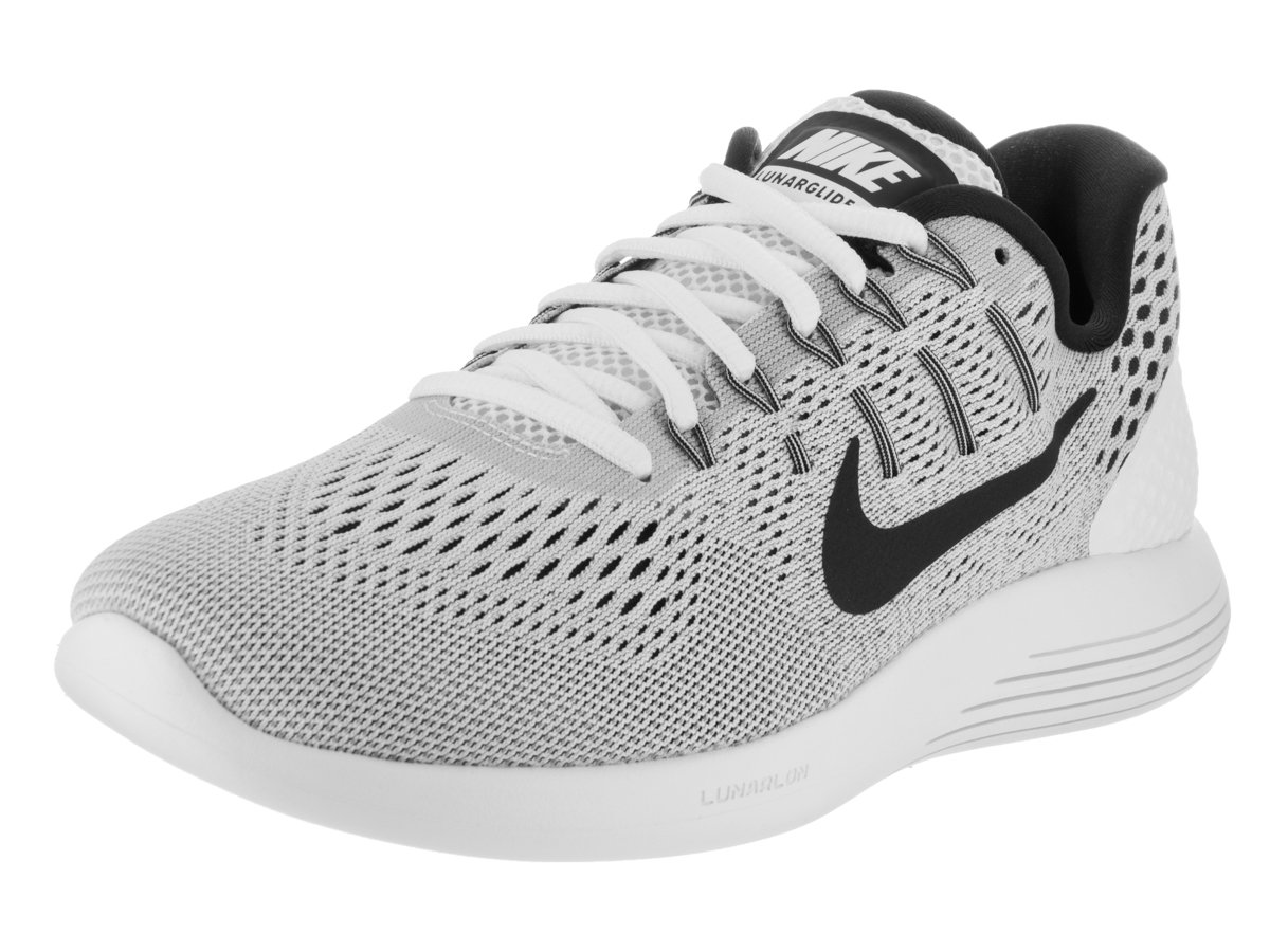 sneakers for cheap 98840 aca12 Galleon - Nike Mens Lunarglide 8 Running Shoe White Black Wolf Grey 11