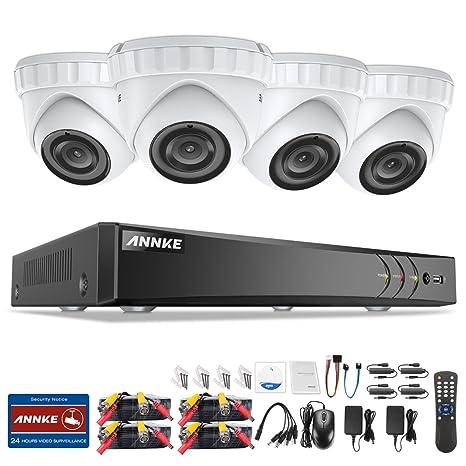 ANNKE Kit Sistema de seguridad CCTV 4CH DVR 3MP y 4 Cámaras de vigilancia 3MP sin