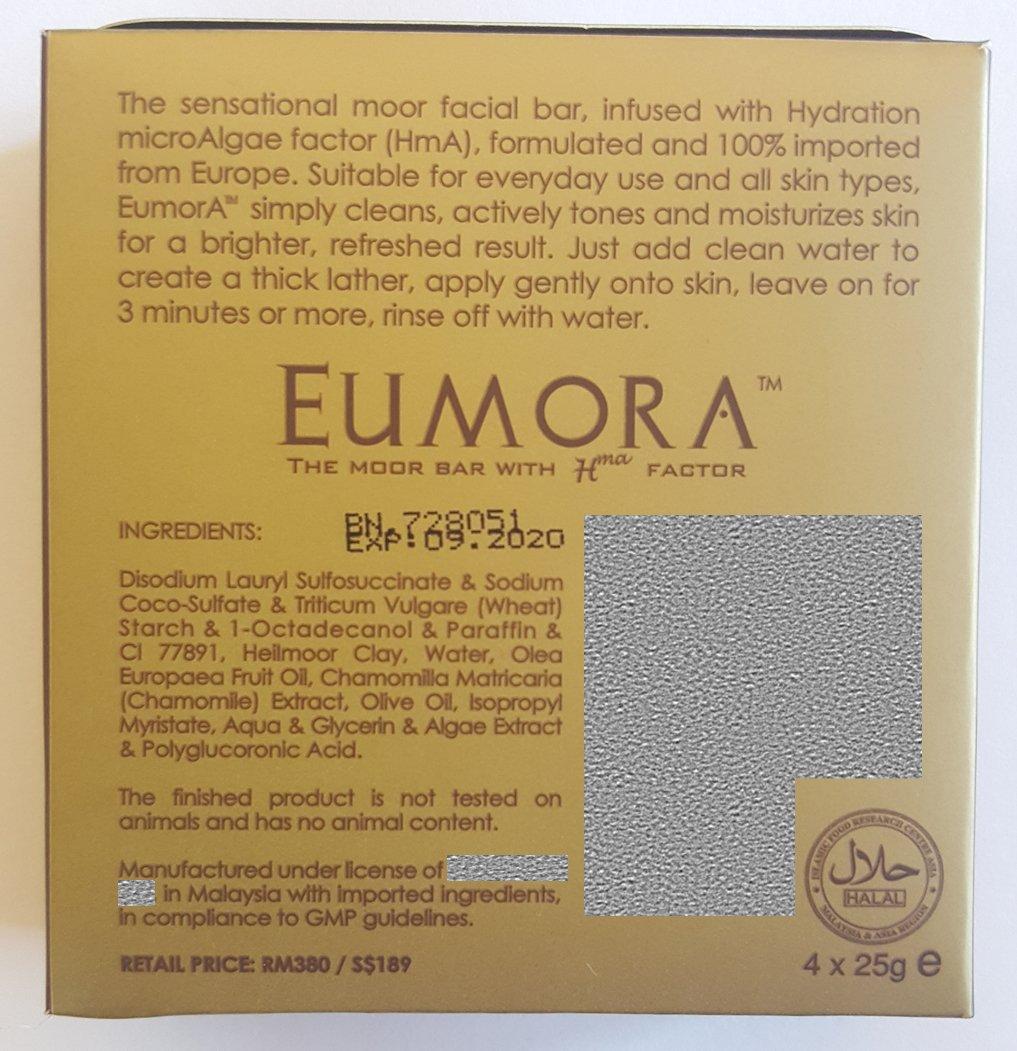Eumora Facial Moor Bar (Pack of 4), Skin Care for All Skin Types, Anti-Aging, Acne, Men & Women