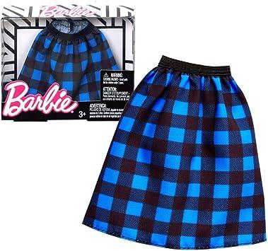 Amazon.es: Barbie Falda Azul a Cuadros Mattel FPH23 | Moda | Ropa ...