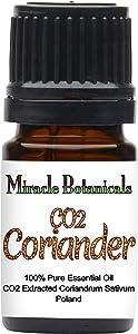 Miracle Botanicals CO2 Extracted Coriander Essential Oil - 100% Pure Coriandrum Sativum - Therapeutic Grade - 5ml