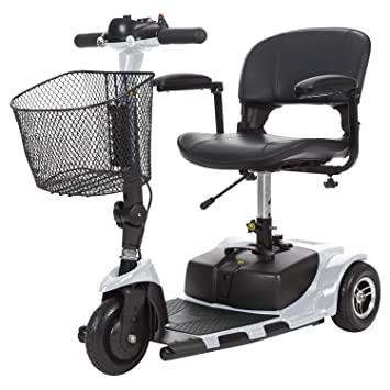 Vive 3-Wheel Mobility Scooter - Electric Powered Mobile Wheelchair Device for Adults - Folding, Collabsible and Compact for Travel - Long Range Power ...
