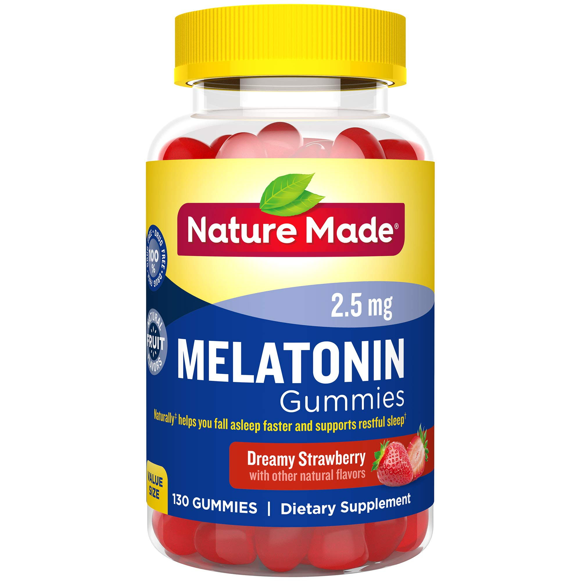 Nature Made Melatonin 2.5 mg. Adult Gummies Value Size 130 Ct