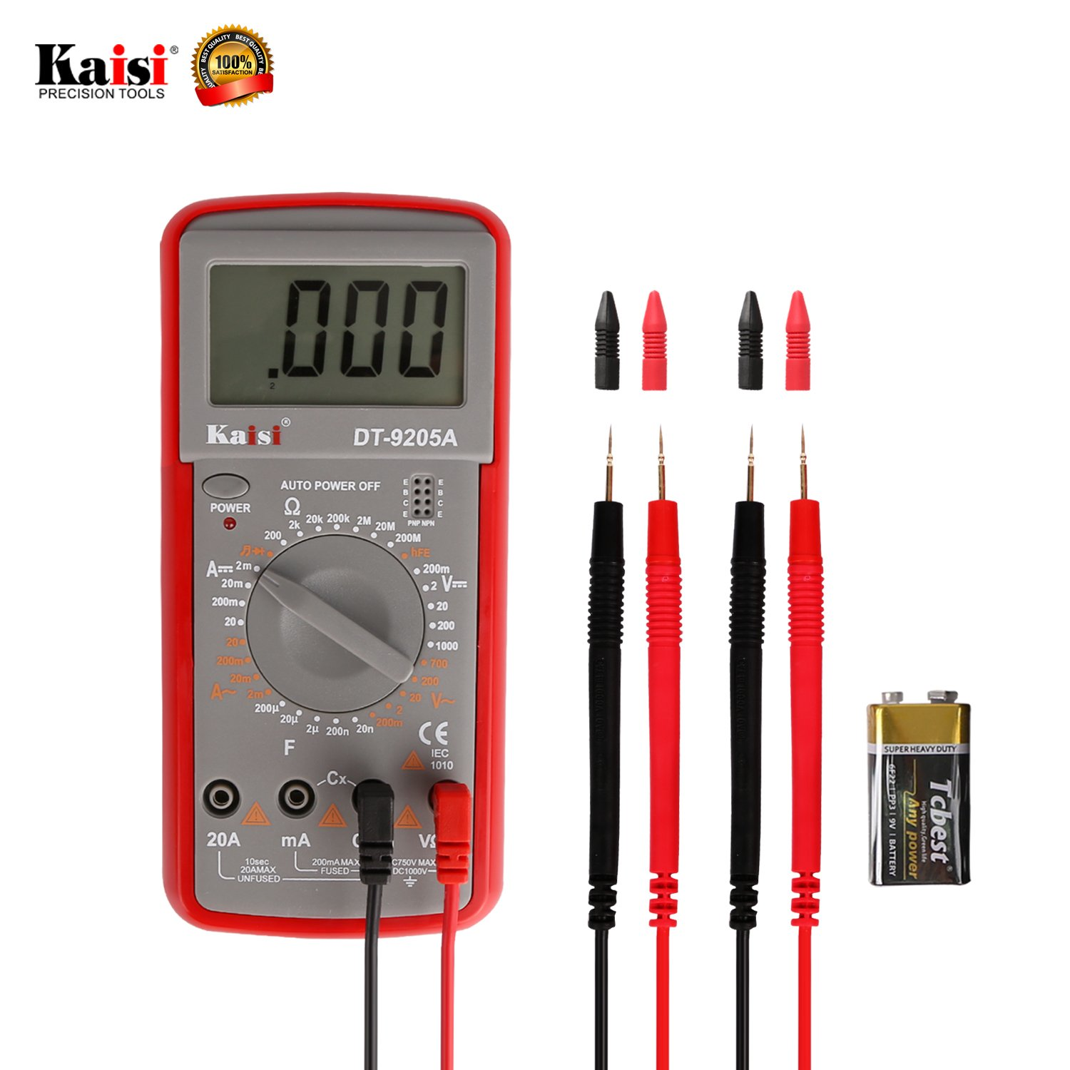 Electronic Volt Amp Ohm Meter Multimeter with Diode and Continuity Test, LCD display,Measures Voltage, Current, Resistance, Capacitance, Frequency