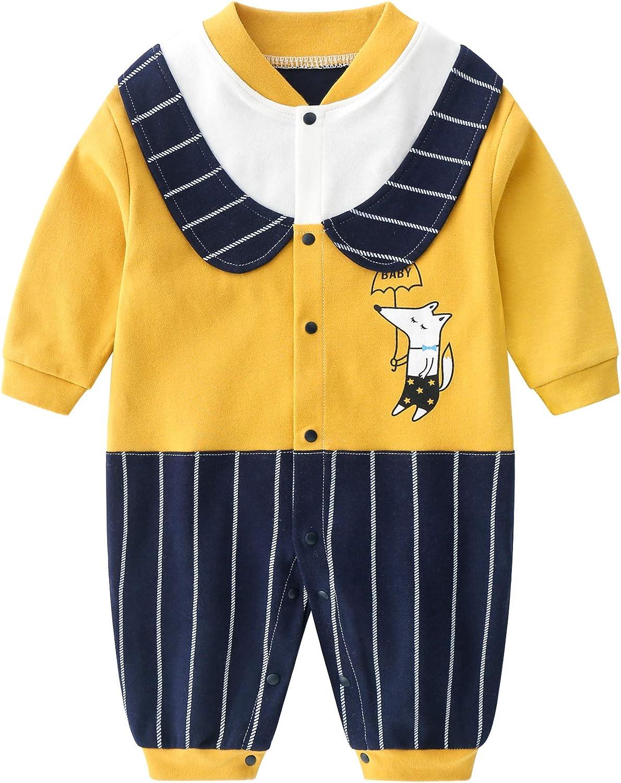 JinBei Baby Rompers Newborn Autumn Spring Long Sleeve Cotton Jumpsuit 0-12 Months