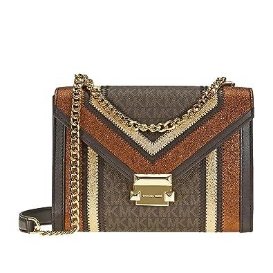MICHAEL Michael Kors Whitney Large Metallic Signature Shoulder Bag ... f10f2e953767b