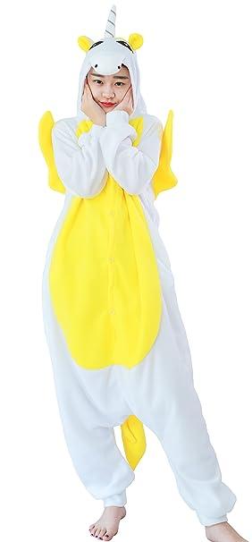 Pijamas Animales Unicornio Mujer Invierno Cosplay Traje Disfraz Adulto
