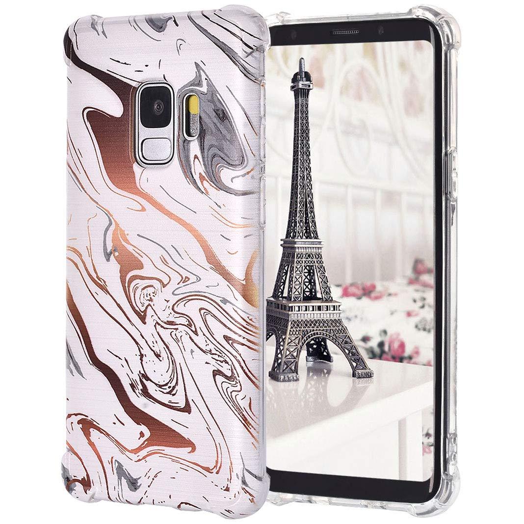 TPU Étui pour Samsung Galaxy S9, Impression Peint Imperméable Antidérapant Dünn Coque de Pare-Chocs de Silicium Transparent pour Samsung Galaxy S9