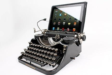 USB máquina de escribir® para el teclado de ordenador/Ipad Dock – -Negro