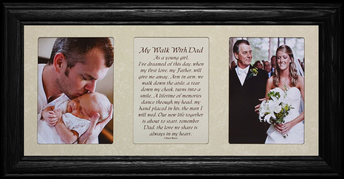 Amazon.com - 7x15 MY WALK WITH DAD Poetry & Photo ~ BLACK Frame ...