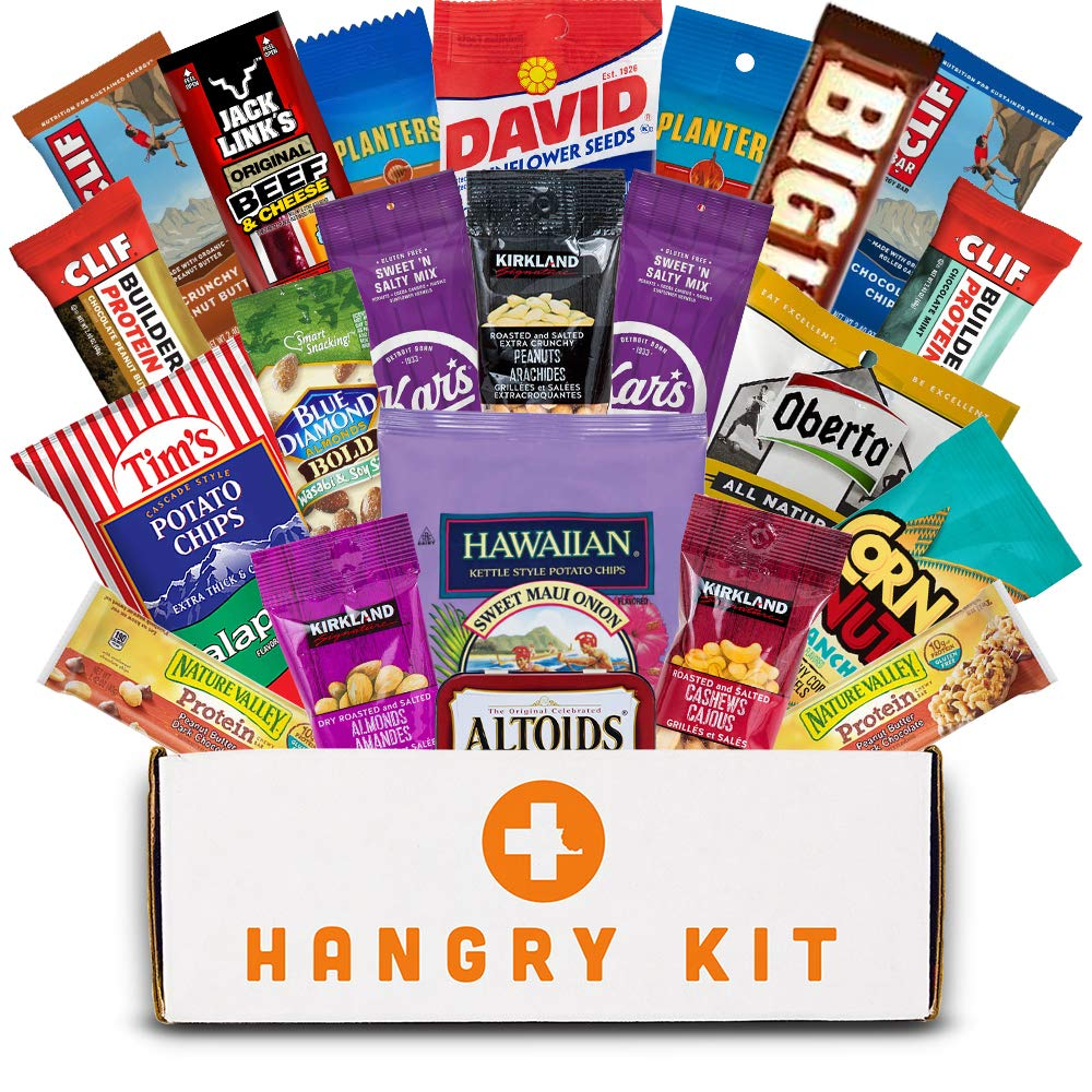 MEGA MAN HANGRY KIT - Gift for Men - College Care Package - Full Of What Men Crave - Nuts, Meat, Protein, and All Other Types of Snacks (23 Items)