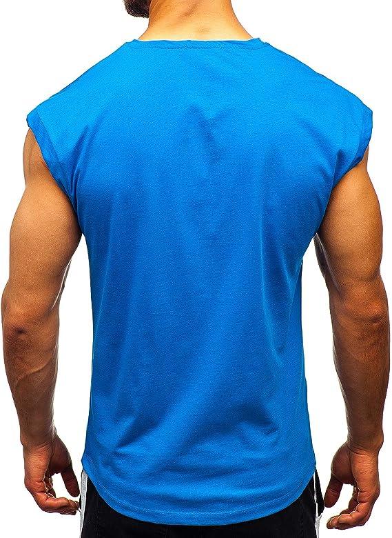BOLF Hombre Camiseta de Manga Corta Tank Top Camiseta de Tirantes ...