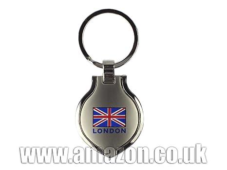 London Souvenir Interna Photo Frame Llavero de metal con ...