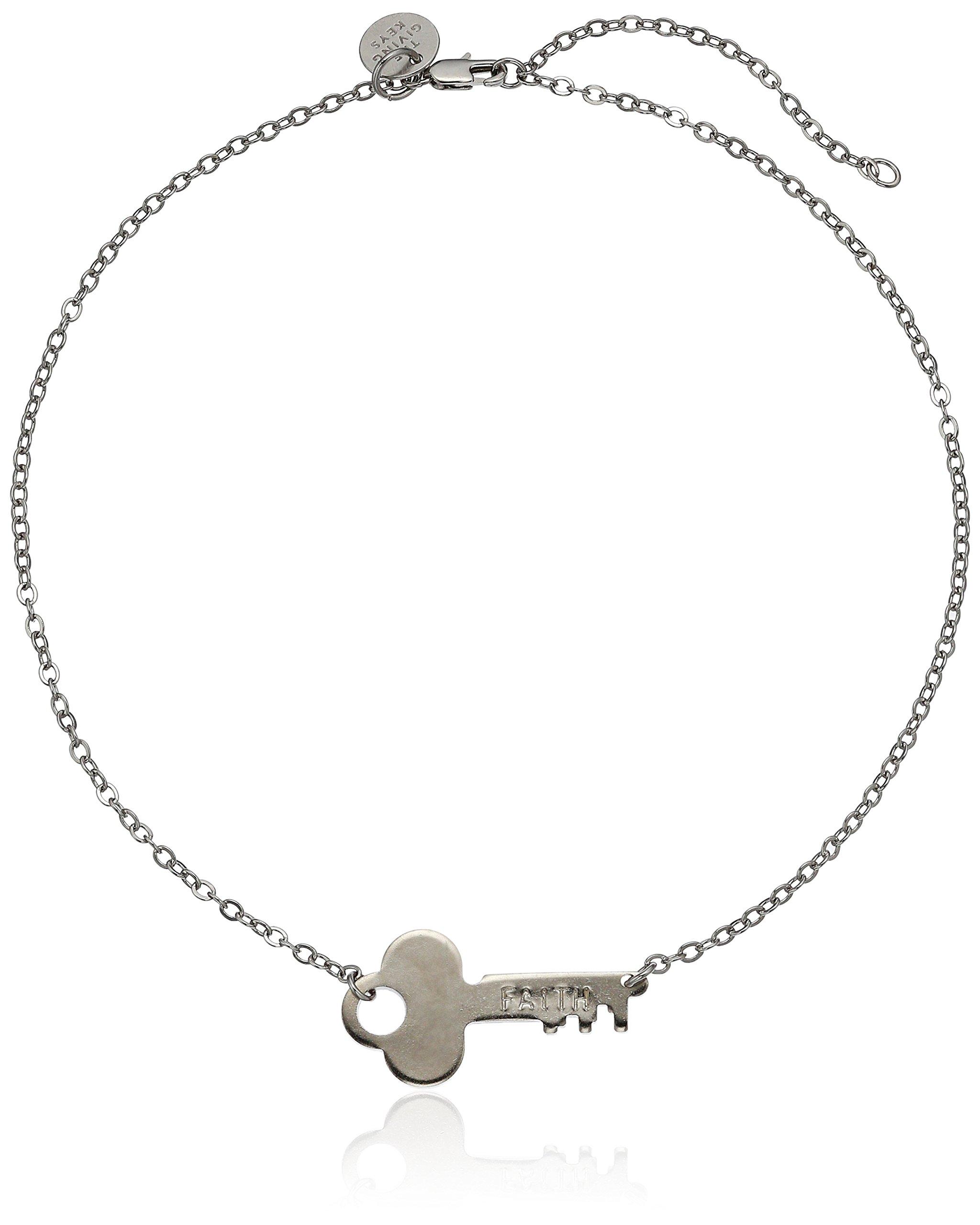 The Giving Keys Neverending Silver Choker Necklace FAITH