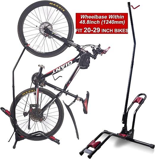 Dinsam Soporte vertical para suelo de bicicleta, soporte de ...