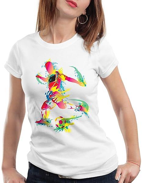 style3 Campeonato de Fútbol Camiseta para mujer T-Shirt, Color:Blanco;Talla