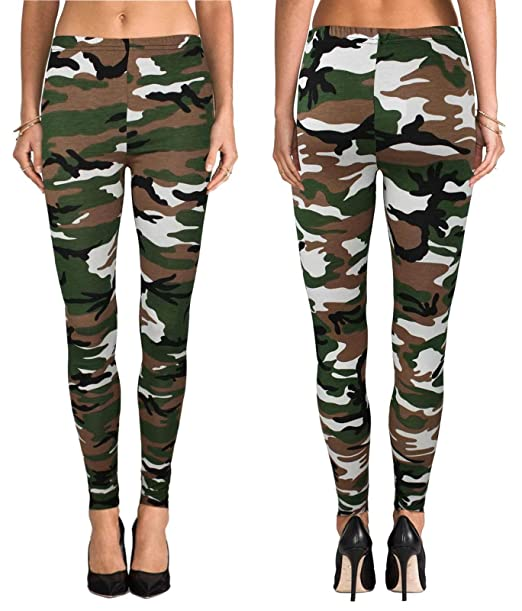 69efd5adc499f Damenmode Womens Bright Camo Army Print Sports Leggings Buttery Soft Pink  ONE SIZE OS 2-12