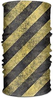 Bixungan Headwear Headband Stripe Yellow Black Head Scarf Wrap Sweatband Sport Headscarves for Men Women
