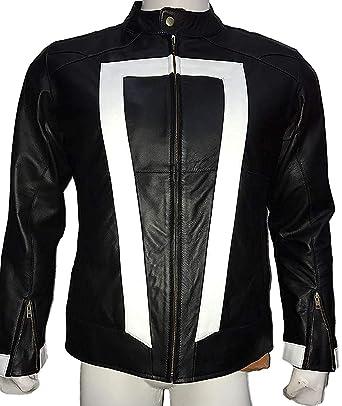 752aaff1e3d42 Ghost Rider Movie Men s Clothing Men Biker Leather Jacket