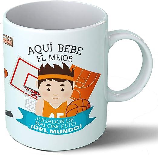 Planetacase Taza Desayuno Aquí Bebe el Mejor Jugador de Baloncesto ...