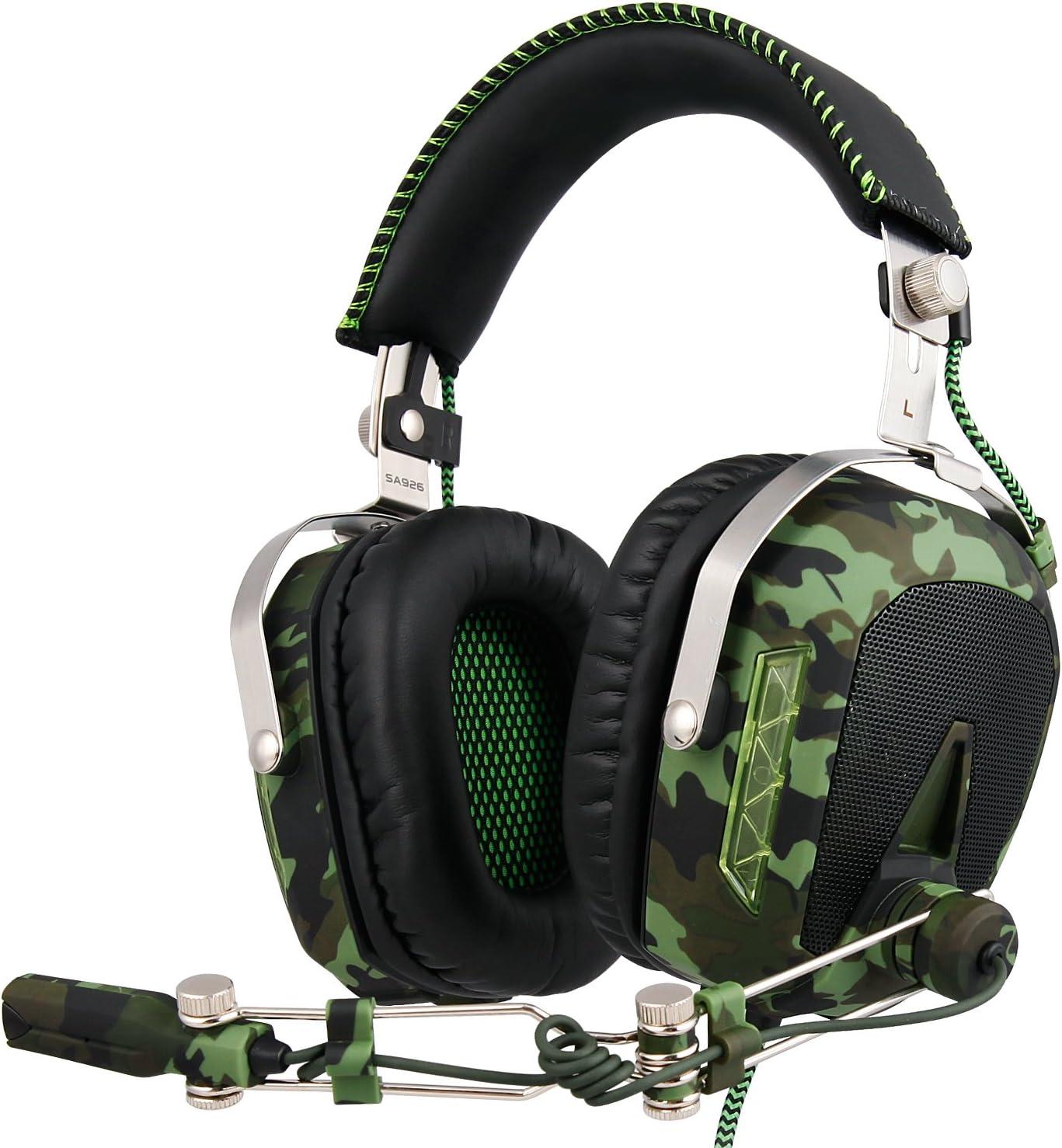 SADES SA929 Gaming Headset para PS4 Xbox One PC 7.1 Sonido envolvente virtual Channel Conversión de audio Auriculares, cancelación de ruido y control de volumen [playstation_4]: Amazon.es: Electrónica
