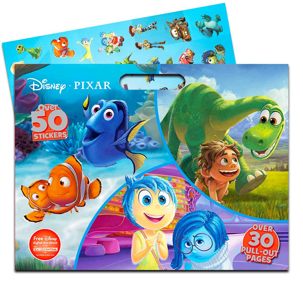 3 Giant Coloring Books with Stickers Parragon Disney Moana Floor Coloring Pad Super Set Featuring Moana, Disney Princess and More