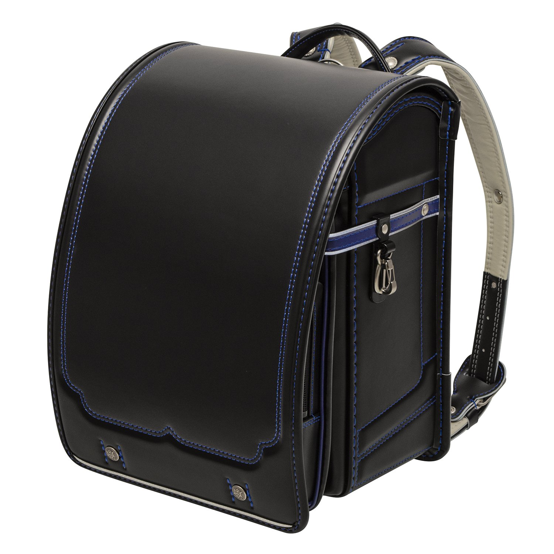 【GL527】ランドセル 男の子 日本製 キズに強い グランツ eddy(R) kids label 2015年/2016年モデル 型番 GL527 6年保証 A4フラットファイル対応 クラリーノ(R) フィットちゃん(R) (ブラック/マリンブルー) B019O0TL8I ブラック/マリンブルー ブラック/マリンブルー
